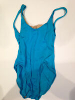 Vintage Retro Active Interest LEOTARD High Cut Light Blue Mervyn's 5/16