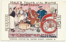 ADVERT PC 1905 HALE'S TOURS OF THE WORLD TERMINAL STATION OXFORD STREET