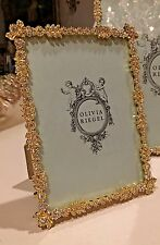 "Olivia Riegel Gold Duchess Crystal 5"" x 7"" Photo Frame  NEW! In Box!"