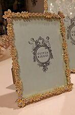 "Olivia Riegel Gold Duchess Swarovski Crystal 5"" x 7"" Photo Frame  NEW! In Box!"