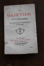 le gazetier littéraire de 1924 - ed. George CRES - 1925