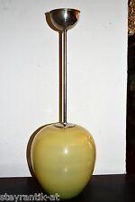 ORIGINAL ART DECO LAMPE ÜBERFANGGLAS UM 1930 /PENDELLAMPE CHROM WAGENFELD ÄRA