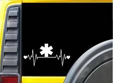 EMT Lifeline K271 8 Inch ambulance heartbeat sticker decal