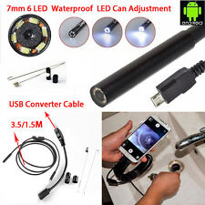 1.5M 7mm Micro USB Waterproof Borescope Endoscope Inspection Camera For Android