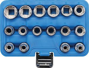 "Bussole Poligonali Set 16 pz Attacco 1/2"" da 8 a 22 mm BGS2226"
