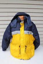 Duck Down DOWN BELOW Jacket Coat Parka Mens XXL 2XL Ski Hooded Winter Navy WARM
