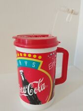 Whirley Coca-Cola Classic 32 Oz Travel Mug, Thermos 90's, Straw Cup