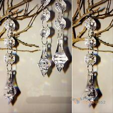 10X Acrylic Crystal Beads Garland Chandelier Hanging Wedding Party Home Decor