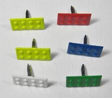 BRADS LEGO BUILDING BLOCKS pk of 6 toy block scrapbooking craft split pin