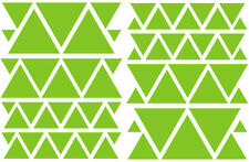LIME GREEN TRIANGLES GIRLS BEDROOM WALL DECALS Teen Girl Nursery Dorm Baby Room