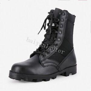 Hot Men's High Top Outdoor Military Boots Lace Up Desert Climbing Boots