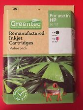 Greentec HP 56/57 Black & Tri-colour Remanufactured Inkjet Cartridge Value Pack