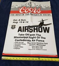 Confederate Air Force Poster CAF Mississippi Airshow WWII Aircraft Show 24 x 18