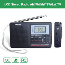 Digital Portable Stereo Radio FM LW TV AM LCD Music Receiver Alarm Clock Light