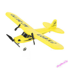 NEW HL-803 Helicopter Plane Glider EPP Foam Airplane 2CH 2.4G RC Toy Yellow