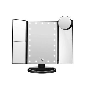 FASCINATE Trifold Led Lighted Makeup Mirror, 2X/3X/ Magnification Vanity Mirr...