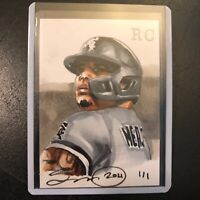 Yermin Mercedes Chicago White Sox 1/1 original art drawn sketch card aceo rc