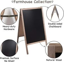 Double Sided Wooden A-Frame Sidewalk Chalkboard Easel Sign Display Black Board