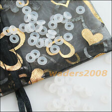 100Pcs White Section Rubber 7mm O-Ring Gaskets Connectors Stoppers