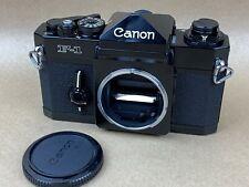 Canon F1 Black 35mm Film Camera Body - Works Great
