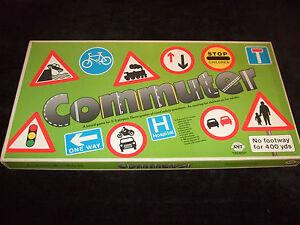 COMMUTER - (THE CHILDRENS ROAD SAFETY GAME) 1986 RARE VINTAGE BOARD GAME - SMT