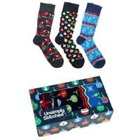 Unsimply Stitched Men's Christmas Bulb 3Pk Crew Socks Gift Box