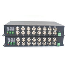 Multimode 2Km 8CH Video Fiber Optic Media Converters for CCTV Security System