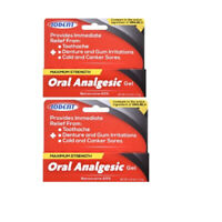 Oral Analgesic Gel Maximum Strength Benzocaine 20% Toothache Pain Relief. 2Pack