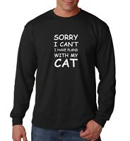 Long Sleeve Sorry I Can't I Have Plans With My Cat T Shirt Cat Lover Gift Tee