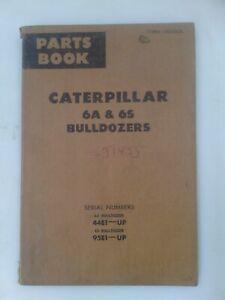 Caterpillar 6A and 6S Bulldozer parts manual. Genuine Cat book.