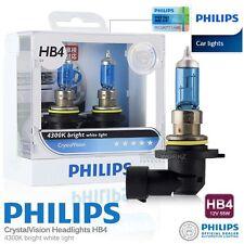 Genuine PHILIPS HB4 Crystal Vision Hi Lo Halogen Bulb 4300K 12V 55W Car Light