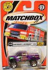 MATCHBOX 2001 #22 CHEVROLET SILVERADO 4X4 GREAT OUTDOORS