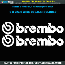 Brembo Decals x 2 22cm Wide car motor sport window bumper stickers #B003