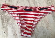 NUOVA collezione donna M/&S Taglia 10 12 18 22 Blu Navy Modello Roll Top Di Bikini Bottom