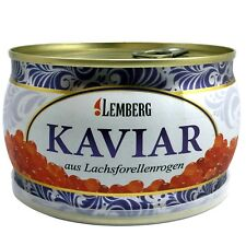 400g ( 1kg /46,25€) Forellenkaviar Lachsforelle Forelle Kaviar Dose Aquakultur