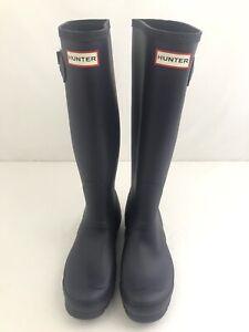 HUNTER Women's Original Tall Waterproof Rain Boots AUBERGINE PURPLE