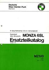 puch monza 6 sl ersatzteil katalog original Neu mofa moped kleinkraftrad mokick