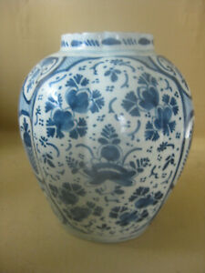18th C. Dutch Delft  Vase
