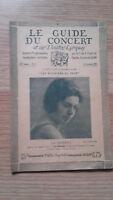 El Guía de La Concierto Y Las Teatro Letra - La Candela - N º 11-1927