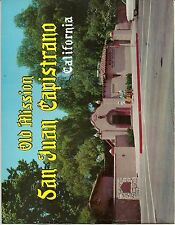 aa - Vintage 1958 Old Mission San Juan Capistrano CA View & Guide Book  COLOR