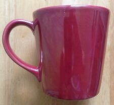 2012 STARBUCKS METALLIC RED COFFEE MUG, MADE IN PORTUGAL, 14 OUNCES