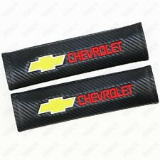 2X Carbon Fiber Car Seat Belt Cover Safety Pads Shoulder Cushion For CHEVROLET