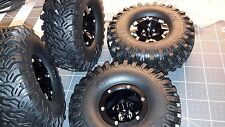 Wheels&tires(4) beadlock 1.9 Black aluminum for scaler 1/10 crawler NEW design