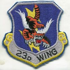 23rd TFW TACTICAL FIGHTER WING FLYING TIGERS USAF Squadron Patch