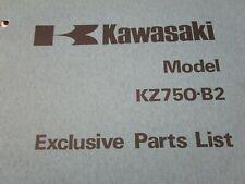 1977 Kawasaki KZ750 Exclusive Parts List Fiche Manual Book B2 KZ750