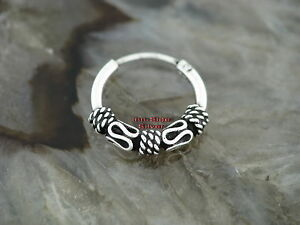 Ohrring Keltische CREOLE 12mm Gothic Celtic Ring Silber 925 Ohrschmuck