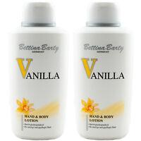 Bettina Barty VANILLA Hand & Body Lotion 2 x 500 ml TOP PREIS