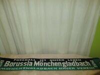 """Borussia Mönchengladbach Fan Schal """"FUSSBALL IST UNSER LEBEN"""" + """"UNSER VEREIN"""""""