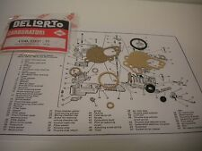 Del Lorto Carb Kit for Vespa  P Series & Rally 200 Scooter SI 24 carbs
