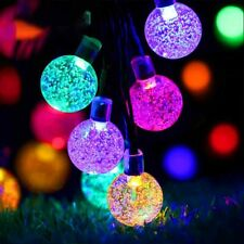 Solar 50 LED String Light Crystal Ball Garden Yard Decor Lamp Outdoor Waterproof